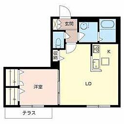 LA SUITE SAKAIHIGASHI[1階]の間取り