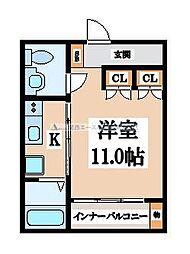シンワパーレ[1階]の間取り