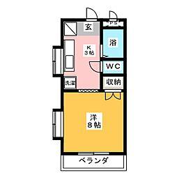 アークハイツ赤田[2階]の間取り