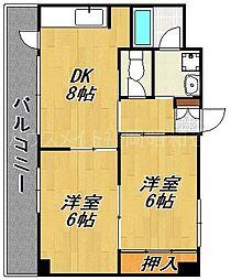 メゾンドール桜坂[2階]の間取り