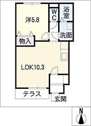 シャルマンハイツ A棟[1階]の間取り