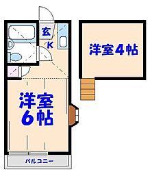 ロフティベルNo.2[205号室]の間取り