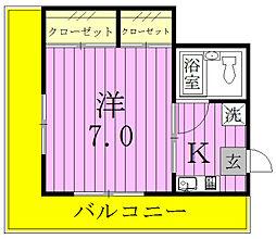 上田コーポ[301号室]の間取り