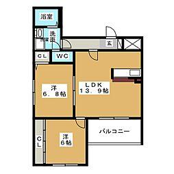 ST クラシカル[4階]の間取り