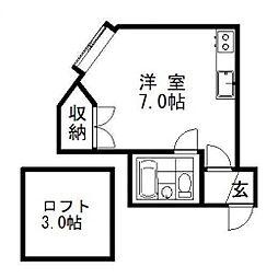 シティコート3・4[205号室]の間取り