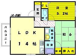 カーサ新宮A[1階]の間取り
