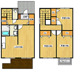 [一戸建] 大阪府高石市加茂3丁目 の賃貸【/】の間取り