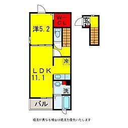 ブルー・ウィローB[2階]の間取り