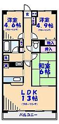 エディフィシオキーヨ[407号室]の間取り