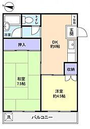ホワイトコート八千代台[4階]の間取り