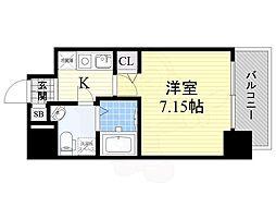 Osaka Metro御堂筋線 江坂駅 徒歩4分の賃貸マンション 10階1Kの間取り