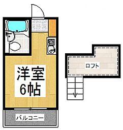 ベル武蔵野二番館[1階]の間取り
