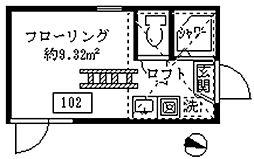 フェリスピュール[102号室]の間取り