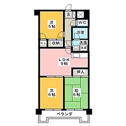 ジュフク松本[5階]の間取り