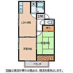 長野県茅野市ちのの賃貸アパートの間取り