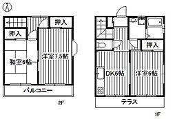 [テラスハウス] 東京都練馬区平和台4丁目 の賃貸【東京都 / 練馬区】の間取り