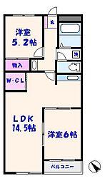 マンション第二青山[307号室]の間取り