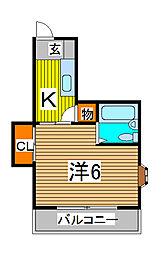 ラスール・イナV[2階]の間取り