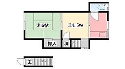 [タウンハウス] 兵庫県西宮市甲子園洲鳥町 の賃貸【兵庫県 / 西宮市】の間取り