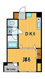 神奈川県横浜市神奈川区東神奈川1丁目の賃貸マンションの間取り