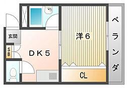スカイコートⅡ[5階]の間取り