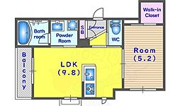 JR東海道・山陽本線 桂川駅 徒歩3分の賃貸アパート 3階1LDKの間取り