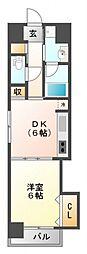 ニッケノーブルハイツ江坂[2階]の間取り