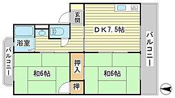 日山マンション[1-7号室]の間取り