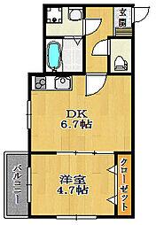 サンアーク北野田[105号室]の間取り