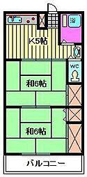 福田コーポ[107号室]の間取り