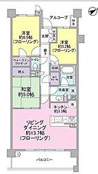 MINASIA湘南ライフタウンミッドフォート[3F号室]の間取り