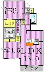 K.エスポワール[1階]の間取り