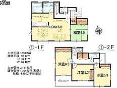 1号地 建物プラン例(間取図) 立川市幸町4丁目