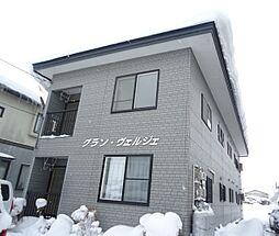 秋田県大仙市大曲戸巻町の賃貸アパートの外観