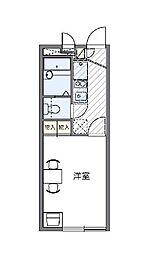 東京都江戸川区東小松川4丁目の賃貸アパートの間取り