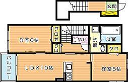 プレヴェルジェ二島[2階]の間取り