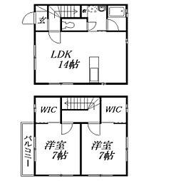 [テラスハウス] 静岡県浜松市中区曳馬3丁目 の賃貸【/】の間取り