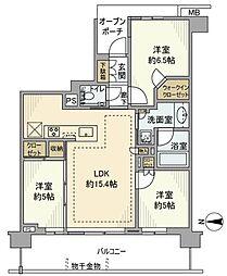 埼玉県さいたま市南区神明1丁目の賃貸マンションの間取り