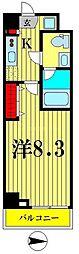 東京メトロ半蔵門線 住吉駅 徒歩5分の賃貸マンション 3階1Kの間取り