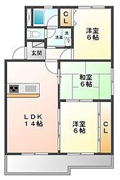 甲子園三保町トーケンレジデンス[2階]の間取り