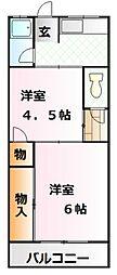 福岡荘[2階]の間取り