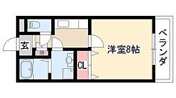 愛知県名古屋市緑区諸ノ木1丁目の賃貸アパートの間取り