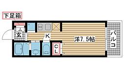 兵庫県神戸市中央区相生町5丁目の賃貸マンションの間取り