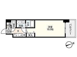 JR山陽本線 広島駅 徒歩19分の賃貸マンション 5階1Kの間取り