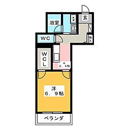 仮称)ベレオ豊田元城町 1階1Kの間取り