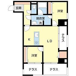 (仮)新潟一番堀通町PJ[4階]の間取り