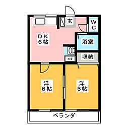 赤尾ハイツ正観寺[2階]の間取り