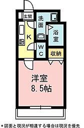 カサジュールII[2階]の間取り