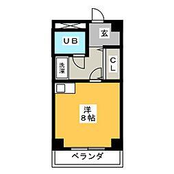 ザ・ヒルズ 1[2階]の間取り