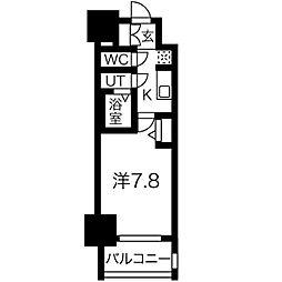 名古屋市営東山線 新栄町駅 徒歩9分の賃貸マンション 6階1Kの間取り